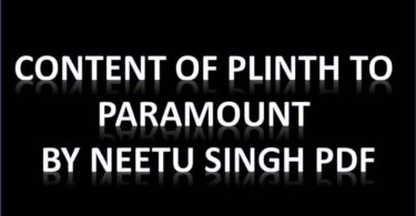 Content Of Plinth To Paramount By Neetu Singh PDF