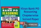 Kiran Bank PO Reasoning