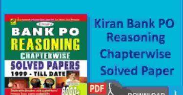 Kiran Bank PO Reasoning