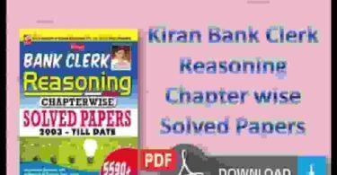 Kiran Bank Clerk Reasoning