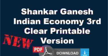 Shankar Ganesh Indian Economy