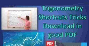 Trigonometry Shortcuts Tricks