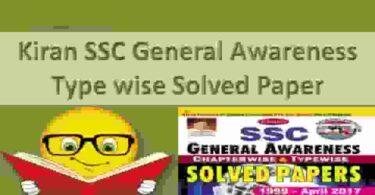 Kiran SSC General Awareness