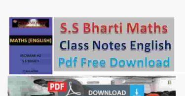 SS Bharti Maths Notes