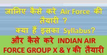 Indian airforce group xy Syllabus 2021