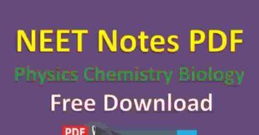 NEET Notes PDF Physics