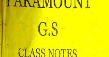 Complete Paramount GS Class Notes Pdf Download