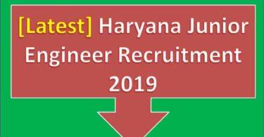 Haryana Junior Engineer Recruitment 2019