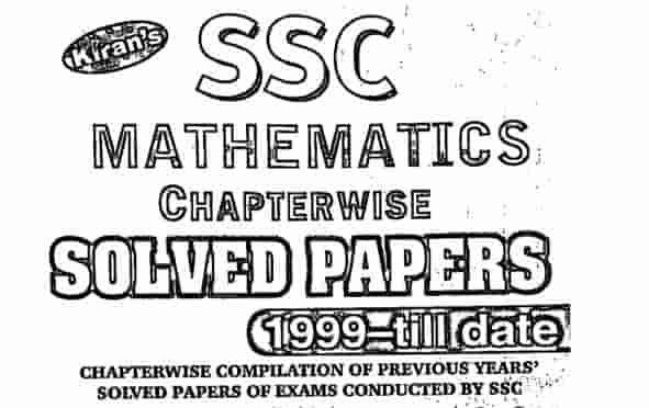 Kiran SSC Mathematics 71000+ chapter wise solved paper Download