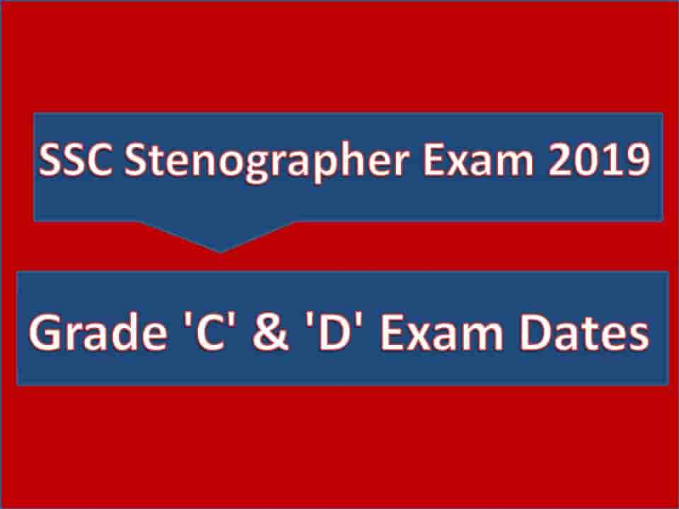 SSC Stenographer Exam 2019