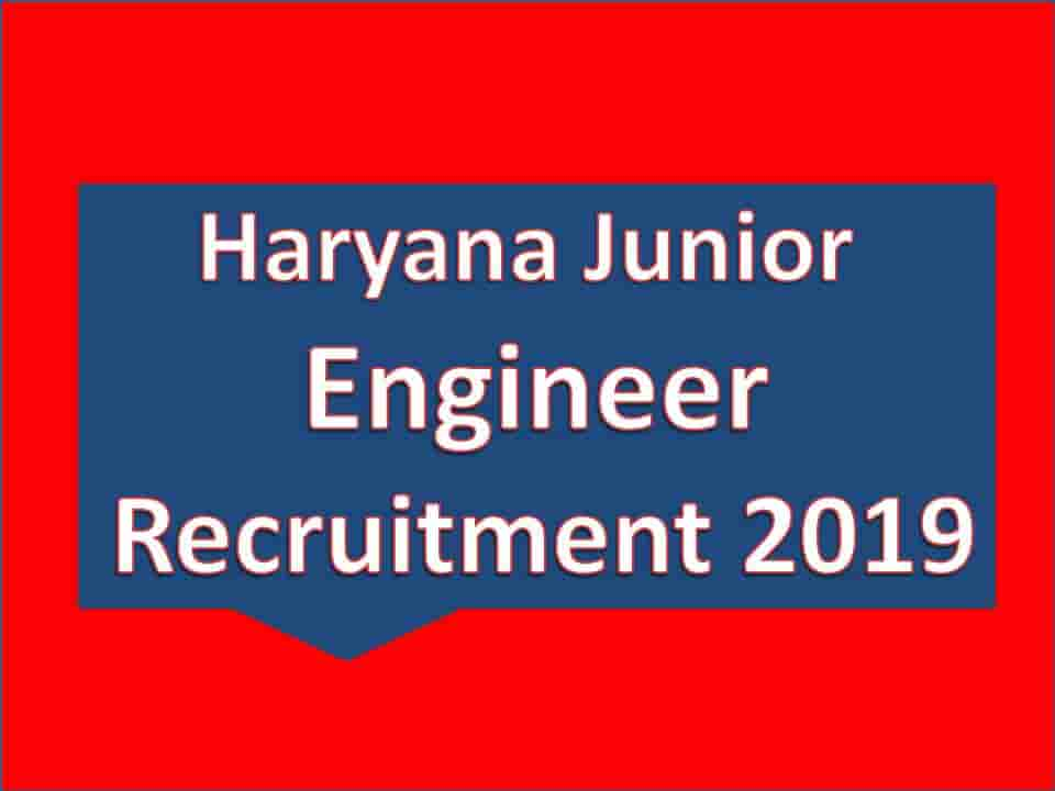 Haryana Junior Engineer Recruitment 2019
