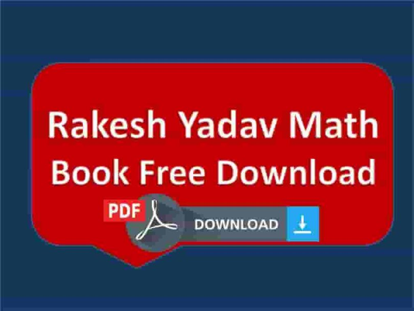 Rakesh Yadav Math Book Free Download