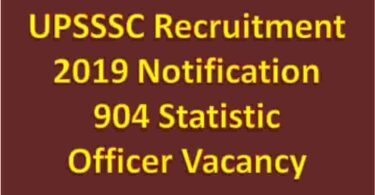 UPSSSC Recruitment 2019 Notification