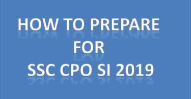 How to prepare for SSC CPO SI 2019