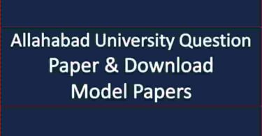 Allahabad University Question Paper & Download Model Papers
