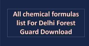 all chemical formulas list For Delhi Forest Guard Download