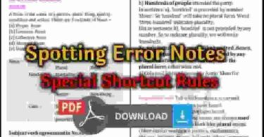 Spotting Error Notes pdf Download