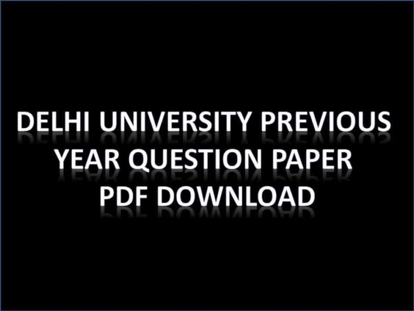 DU Previous Year Papers