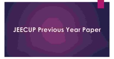 JEECUP Previous Year Paper