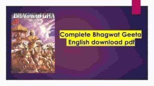 Bhagwat Geeta English download pdf