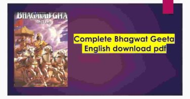 Bhagwat Geeta English download pdf