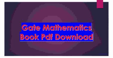 Gate Mathematics Book Pdf Download
