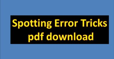Spotting Error Tricks pdf download