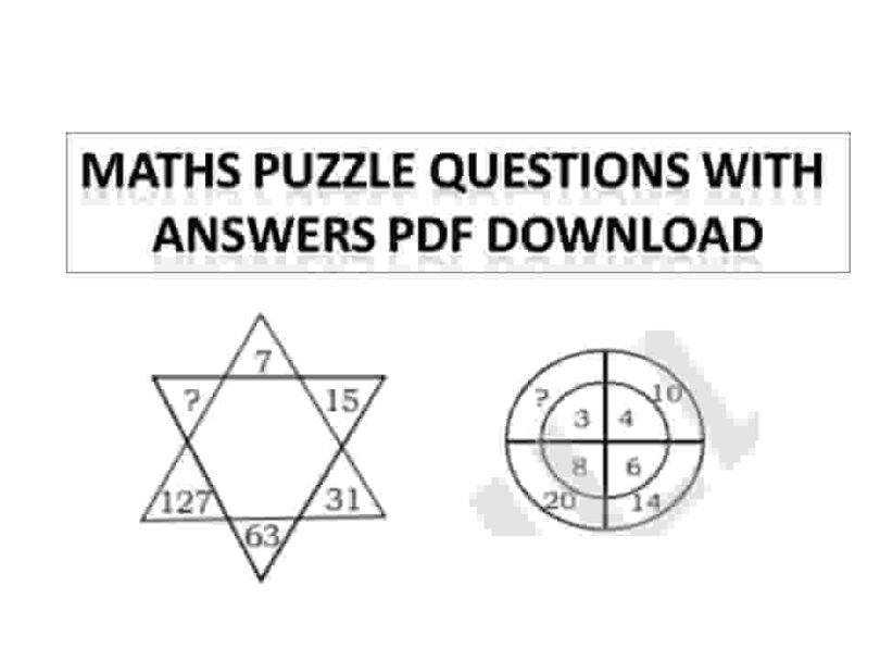 Maths Puzzle Questions With Answers