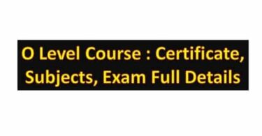 O Level Course